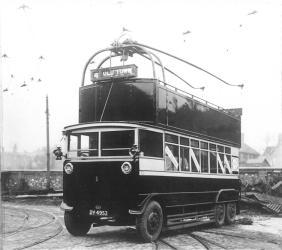 Trolley 1 DY4953 new in depot yard 8-3-1928