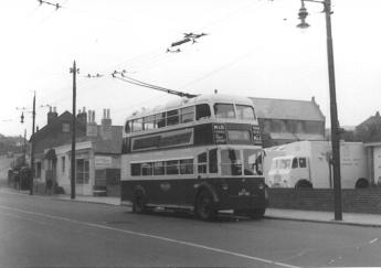 Trolley 43 BDY818 serv 6 to Silverhill @ Ore 26-5-1958