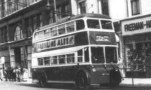 Trolley 45 BDY820 Bull Inn serv @ Memorial