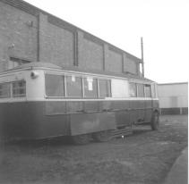Trolley 45 Silverhill Depot offside from rear c1970