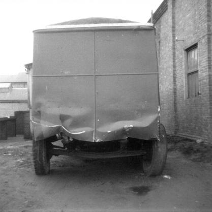 Trolley 45 Silverhill depot sheeted front