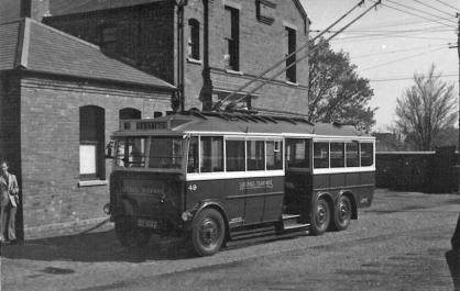 Trolley 49 Silverhill Dep yard 14-5-1950