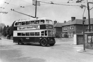 v34 BDY809 last trolley arriving Silverhill Depot 1-6-1959