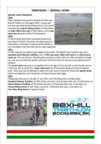 Triathlon - Bexhill Lions