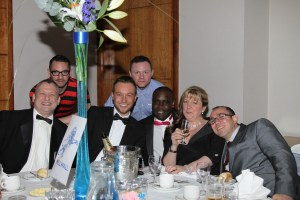Fundraising dinner guests
