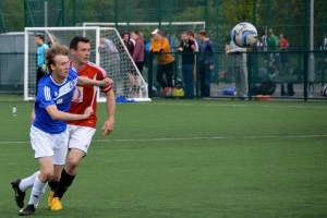 Action from the Quarter Final