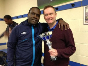 Coach and chairman with the club's first silverware