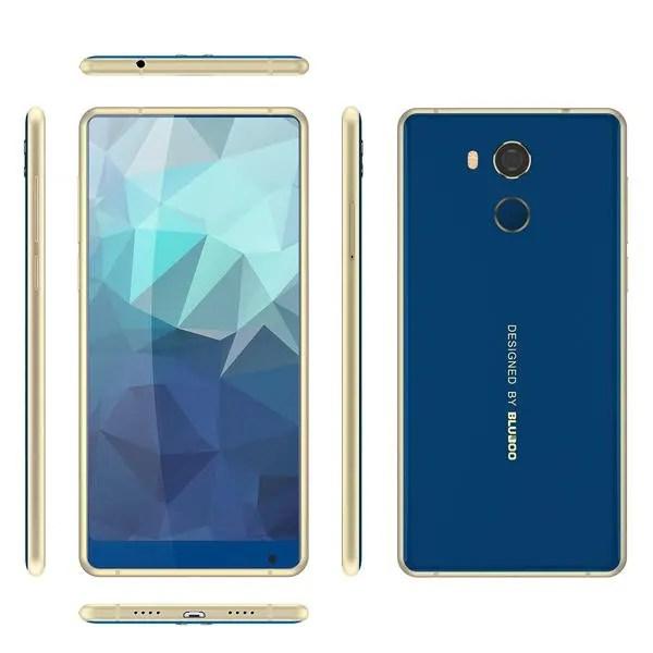 banggood Bluboo D5 Pro MTK6737 1.3GHz 4コア BLUE(ブルー)