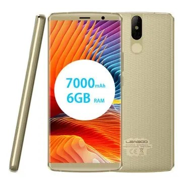 banggood Leagoo Power 5 MTK6763 Helio P23 2.0GHz 8コア GOLD(ゴールド)