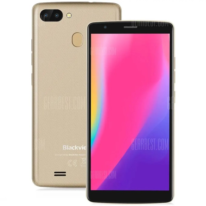 gearbest Blackview A20 Pro MTK6739 1.5GHz 4コア CHAMPAGNE(シャンペン)