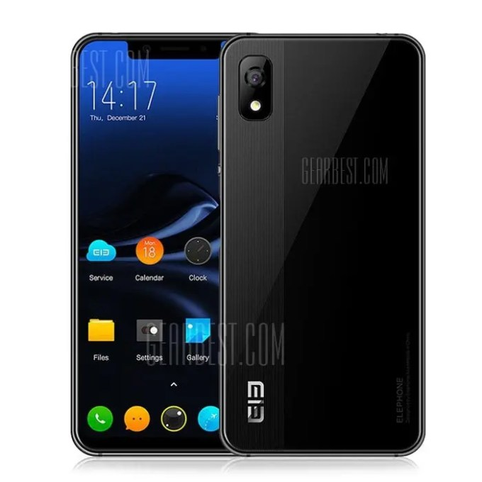 gearbest Elephone A4 Pro MTK6763 Helio P23 2.0GHz 8コア BLACK(ブラック)