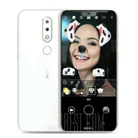 gearbest NOKIA X6 Snapdragon 636 SDM636 8コア WHITE(ホワイト)