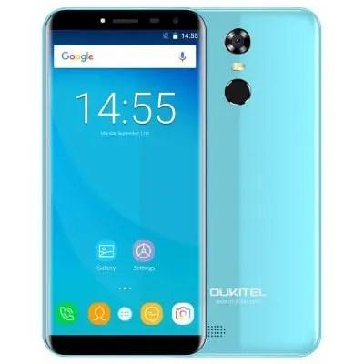 gearbest OUKITEL C8 MTK6737 1.3GHz 4コア BLUE(ブルー)