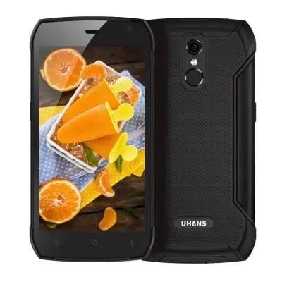 gearbest UHANS K5000 MTK6753 1.3GHz 8コア BLACK(ブラック)