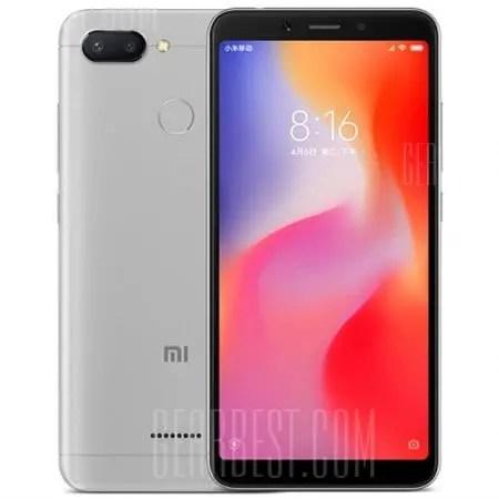 gearbest Xiaomi Redmi 6 MTK6762 Helio P20 2.0GHz 8コア SILVER(シルバー)