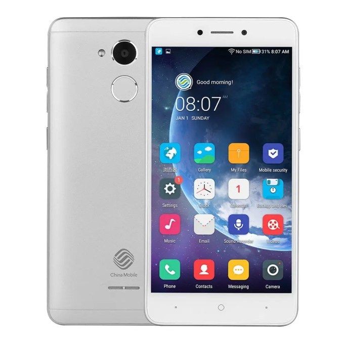 geekbuying China Mobile A3s Snapdragon 425 MSM8917 1.4GHz 4コア SILVER(シルバー)