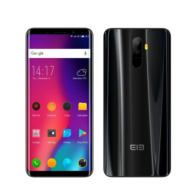 geekbuying Elephone U Pro Snapdragon 660 MSM8956 Plus 2.2GHz 8コア BLACK(ブラック)