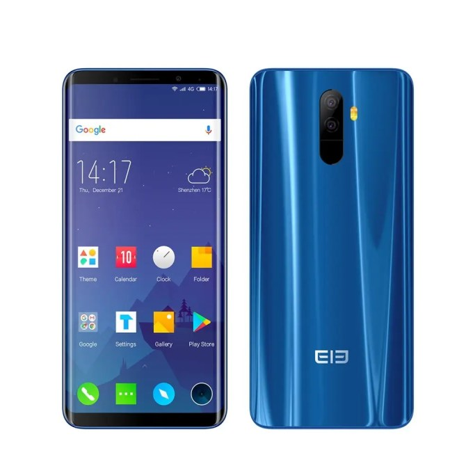 geekbuying Elephone U Pro Snapdragon 660 MSM8956 Plus 2.2GHz 8コア BLUE(ブルー)