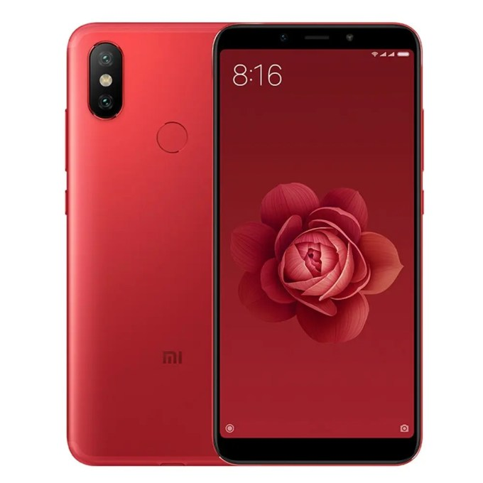 geekbuying Xiaomi Mi 6X Snapdragon 660 MSM8956 Plus 2.2GHz 8コア RED(レッド)