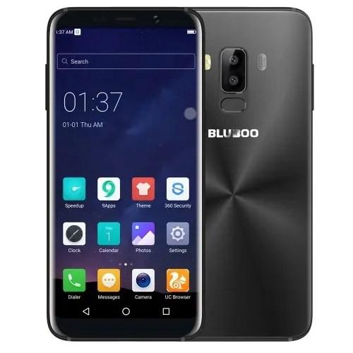 tomtop Bluboo S8 MTK6750T 1.5GHz 8コア BLACK(ブラック)