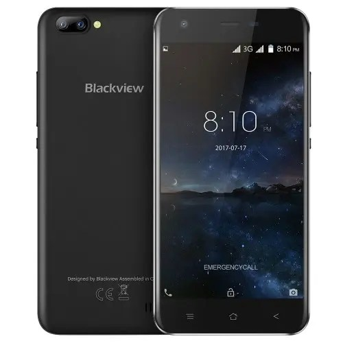 tomtop Blackview A7 3G MTK6580A 1.3GHz 4コア BLACK(ブラック)