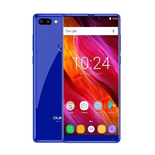 tomtop Oukitel MIX 2 MTK6757V Helio P25 2.39GHz 8コア BLUE(ブルー)