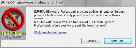 早速ディスクをスキャンするにはStart Trialを押す