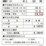 2013/4月分14.5立法で9740円