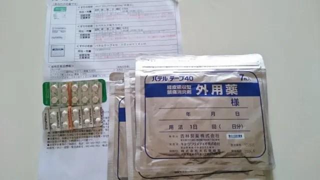 パテルテープ40、エペナルド錠、ロキソプロフェンナトリウム錠