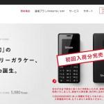 激安・簡単・SIMフリー(自由)の三拍子揃ったMVNOガラケー時代開幕!
