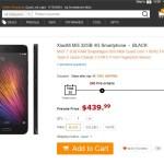 【速報】GearBestからXiaoMi Mi5 32GBが$439.99でプレセール開始 4/19 64GBも出た!