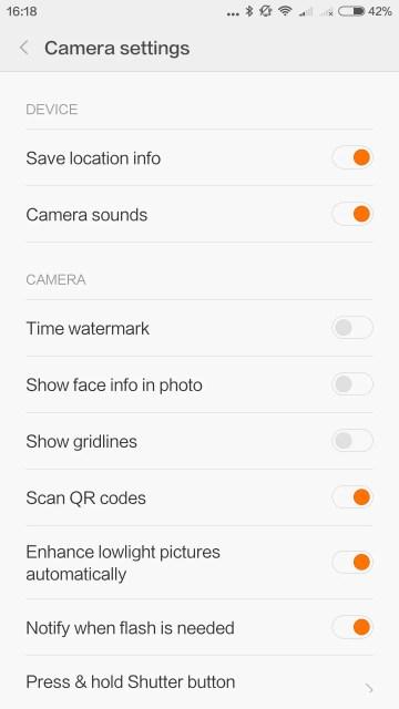 Camera soundsをオフにすると日本SIMさしていてもシャッター音が消える、シャッター音は元々極小音