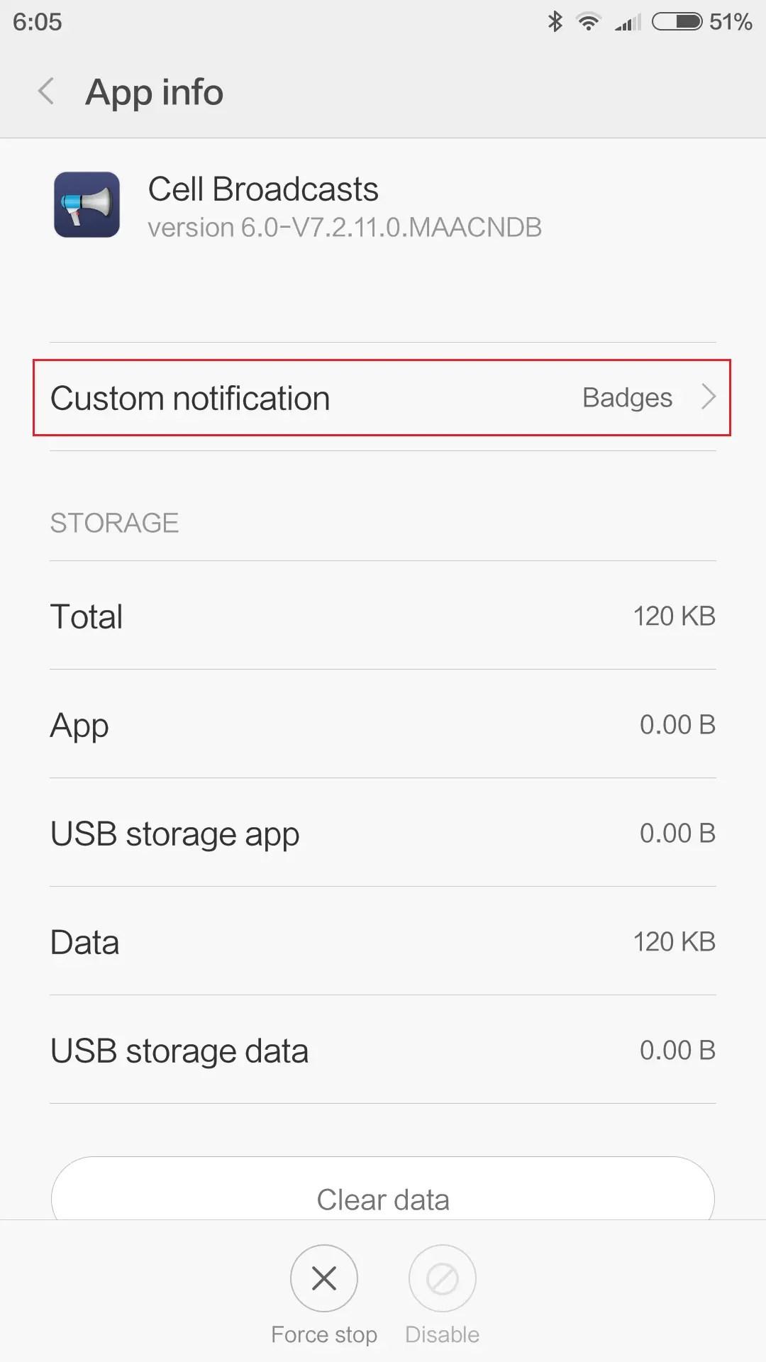 Custom notificationで音とか画面に表示、オフなどの設定ができる