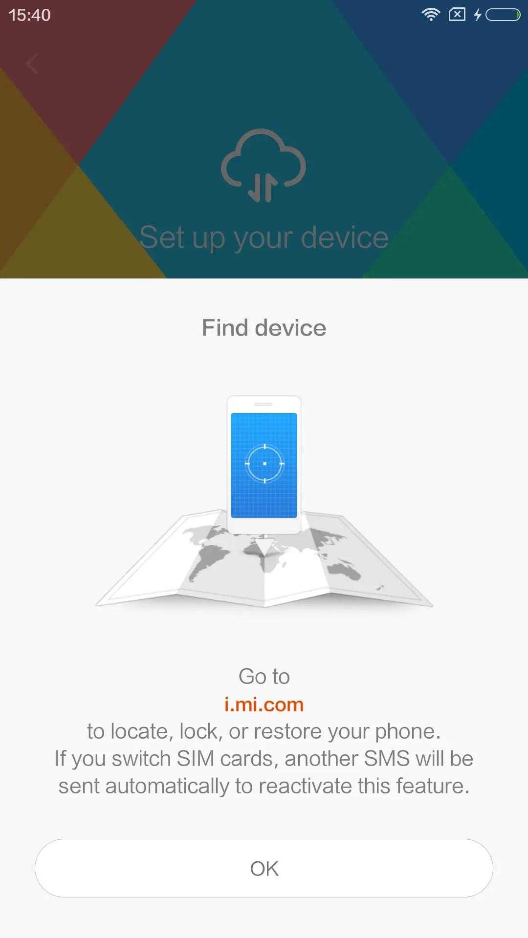 Find deviceのページはi.,mi.com