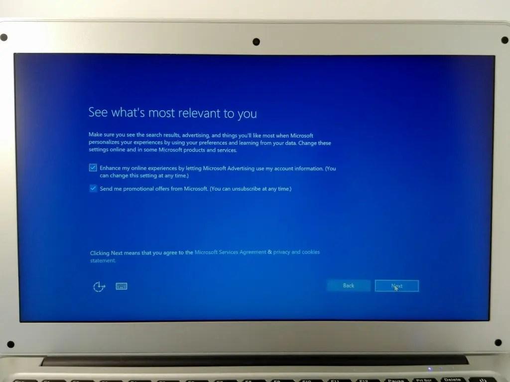 Microsoftの製品情報などのメール送ってよいか、