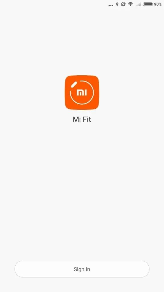 新しいMi Accountでログイン