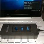 【dodocool】USB3.0ハブ 4ポート+USB Type-C PD レビュー Mi Notebook Air12の充電にも使える♪クーポンあり