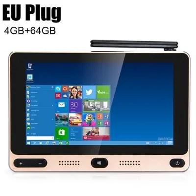GOLE GOLE1 5 inch 720 x 1280 Mini PC Windows 10 / Android 5.1  -  4GB+64GB  EU PLUG