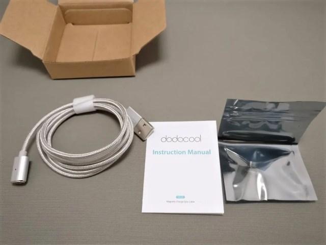 dodcool MicroUSBマグネットケーブル 付属品