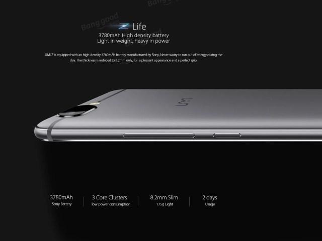 UMI Z battery-3780mah