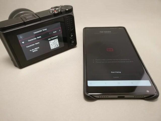 中華ミラーレス一眼 Xiaomi Yi Digital Camera M1  Xiaomi Mi MIXとペアリング開始