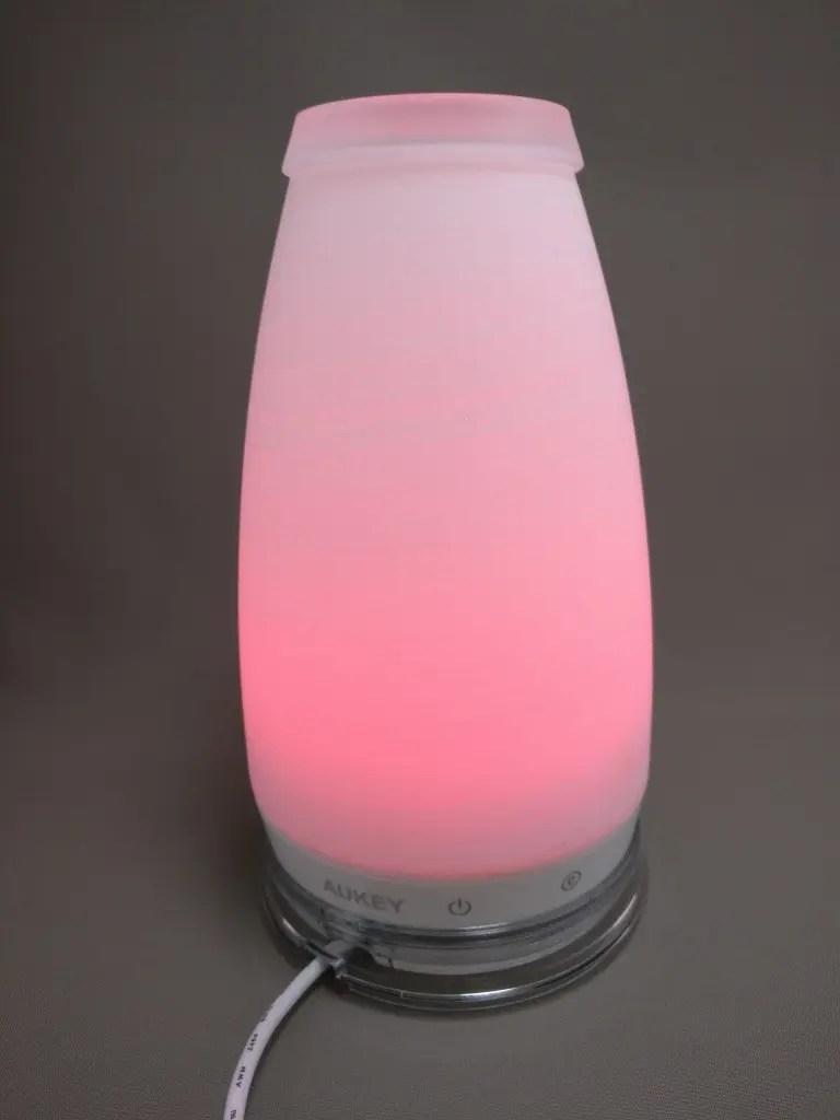 AUKEY LEDライト 花瓶 1W USB充電 LT-ST14 ピンク