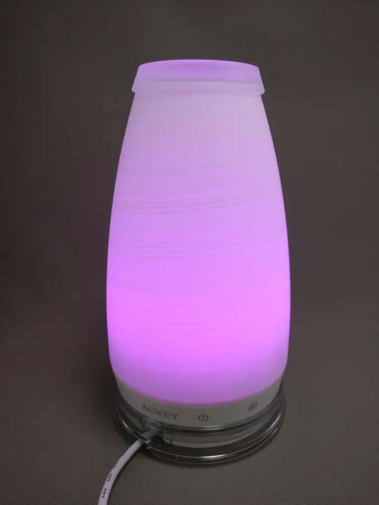AUKEY LEDライト 花瓶 1W USB充電 LT-ST14 ムラサキ