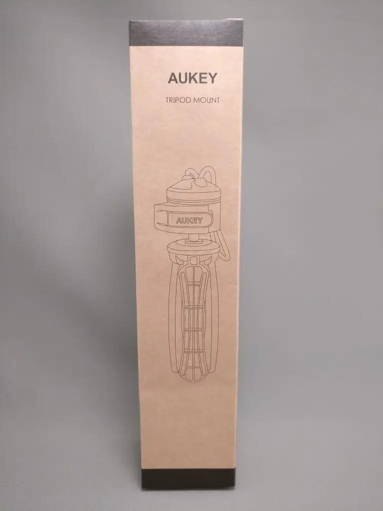 AUKEY ミニ三脚+スマートフォンホルダー CP-T01 化粧箱 前