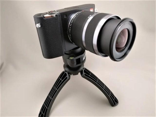 AUKEY ミニ三脚+スマートフォンホルダー CP-T01 ミラーレス一眼装着