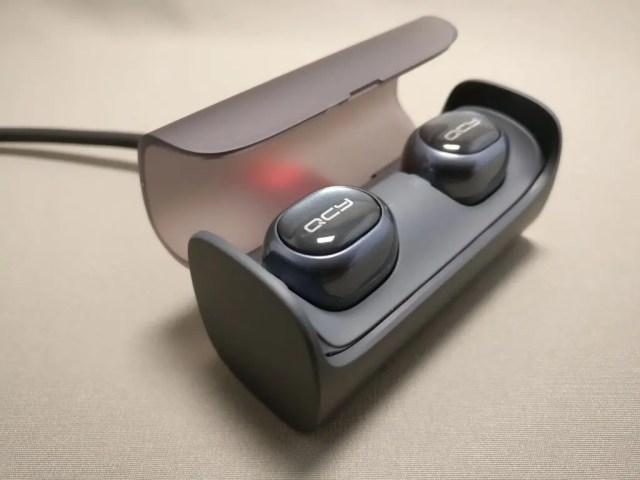 QCY Q29 完全分離型 両耳 Bluetooth ワイヤレスイヤホン ケースオープン