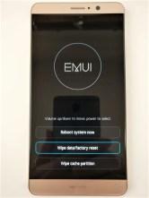 Huawei Mate 9 ファクトリー リセット Wipe datafactory reset