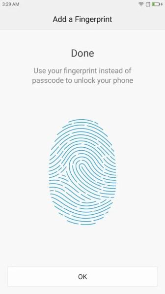 Lenovo ZUK Z2 Pro 初期設定 指紋認証 指紋登録完了