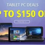 【GeekBuying】TABLET PC DEALS 中華タブレット 最大150ドルOff キャンペーン
