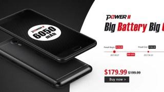【Banggood】名機の後継Ulefone Power 2 発売記念 ギフトパック付きで179.99ドル!